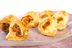 Minced meat rolls Royalty Free Stock Photography