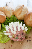 Minced meat with rolls Royalty Free Stock Photos