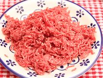 Minced meat. Some raw minced meat of beef and pork Stock Photos