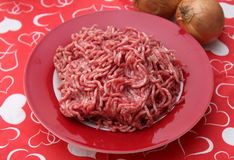 Minced meat. Some raw minced meat of pork and beef Royalty Free Stock Photos