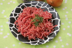 Minced meat. Some raw minced meat of pork and beef Stock Photo