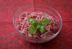 Minced meat. Some raw minced meat of pork and beef Royalty Free Stock Images