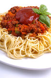 Minced meat spaghetti Bolognese Royalty Free Stock Photo
