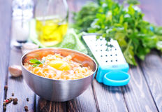 Minced meat. With spice and raw egg Stock Images