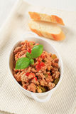 Minced meat stir fry Stock Photography