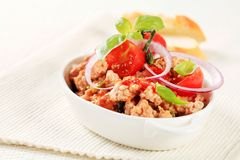 Minced meat stir fry Royalty Free Stock Photography