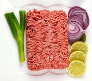Raw Mince Meat Stock Photo