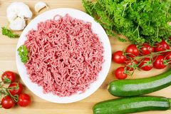 Minced meat with vegetables Royalty Free Stock Images