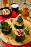 Minced meat vegetables stuffed Zucchini Royalty Free Stock Photography