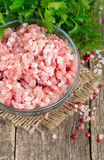 Minced meat on wooden table Stock Photos