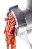 Minced mięso przychodzi świeżego od mincer zdjęcia royalty free