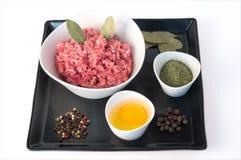 Minced mięso z pikantnością Fotografia Stock