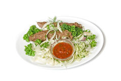 Minced mutton chop with sauce Stock Photos