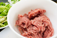 Minced pork Royalty Free Stock Photo