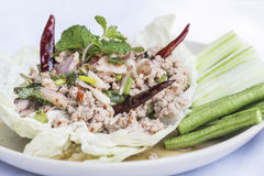 Minced pork salad Royalty Free Stock Photography