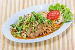 Minced pork salad thai food Stock Photography