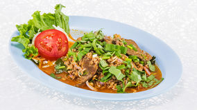 Minced pork salad thai food Royalty Free Stock Photography