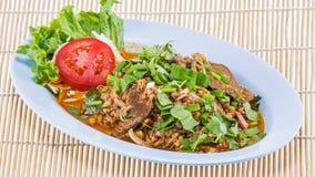 Minced pork salad thai food Royalty Free Stock Photos