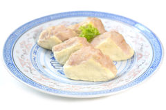 Minced pork stuffed tofu Royalty Free Stock Images