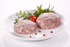 Minced raw meat Royalty Free Stock Photos