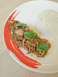 Minced ryż i mięso Zdjęcie Royalty Free