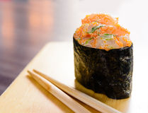 Minced salmon sushi maki Royalty Free Stock Photo