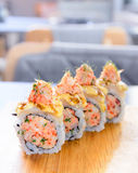 Minced salmon sushi maki Royalty Free Stock Image