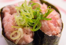 Minced Tuna Sushi Royalty Free Stock Photography
