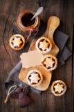 Mincemeat πίτες στοκ φωτογραφία