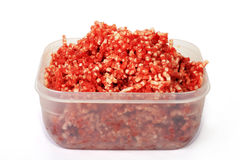 Mincemeat. Forcemeat prepared of several grades of meat, is the basic component to set of dishes Royalty Free Stock Photo