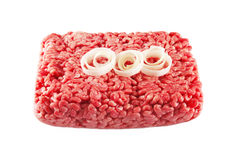 Mincemeat, beef and onions Royalty Free Stock Photos