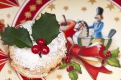 Mincepie tradicional de la Navidad. Imagen de archivo libre de regalías