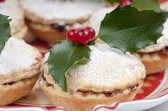 Mincepies tradicionales de la Navidad. Fotografía de archivo libre de regalías