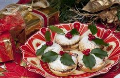 Mincepies tradicionales de la Navidad. Imagen de archivo