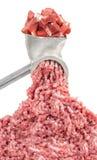 Mincer i stos siekający mięso obraz royalty free