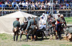 Mincer Nivelle bitwy reenactment Obrazy Royalty Free