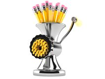 Mincer z ołówkami Obrazy Stock