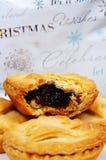 Minces pies anglaises traditionnelles. photo stock