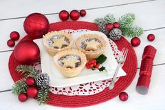 Minces pies de Noël Images stock