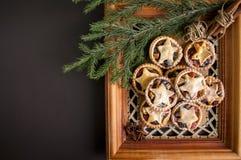 Minces pies pour Noël Images stock