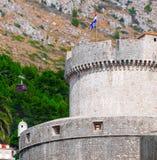 Minceta torn, gammal stad, Dubrovnik Arkivbild