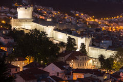 Minceta tower and city walls. Dubrovnik. Croatia Royalty Free Stock Images