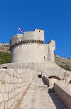 Minceta Tower (1463) of Dubrovnik, Croatia. UNESCO site Stock Photo