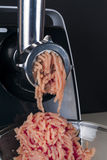 Mincing machine and meat Stock Photography
