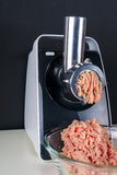 Mincing machine and meat Stock Photos