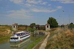 Mincio-Fluss in Govèrnolo-Bereich, Mantua Italien Lizenzfreie Stockfotografie