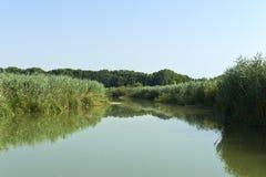 Mincio River. Grazie di Curtatone (Mn),Italy,Mincio River ,the Natural reserve of the Mincio Valleys Royalty Free Stock Photos