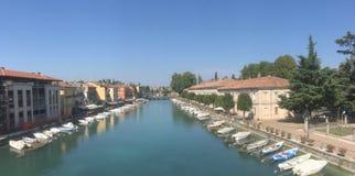 Mincio Rzeka Peschiera Del Garda fotografia stock