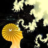 Mind. High-resolution abstract illustration Mind vector illustration