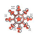 Mind awareness icon in comic style. Idea human vector cartoon illustration on white isolated background. Customer brain business. Concept splash effect vector illustration